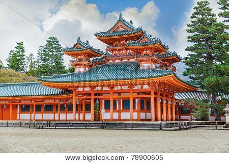 Dragon Hall of Heian Jingu Shrine in Kyoto