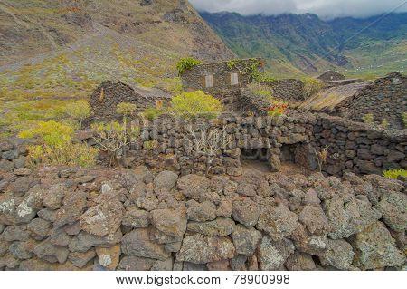 Abandoned Houses In El Hierro Island