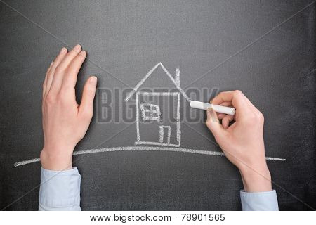 Future Home Owner Draws A House