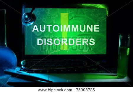 Notebook with words autoimmune disorders