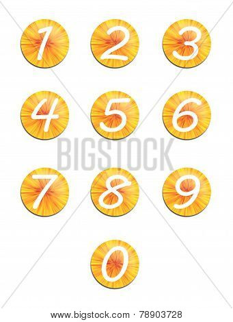 Set Yellow Buttons With Numbers.