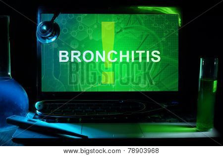 Notebook with words bronchitis