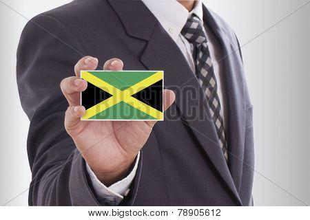 Businessman with Jamaica Flag