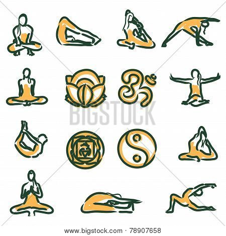 vector yoga position