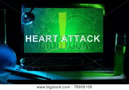 Notebook with words Heart Attack
