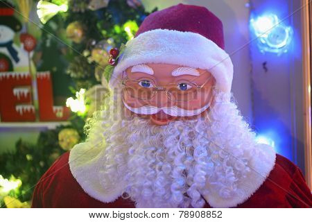 Santa Claus And Festive Lights