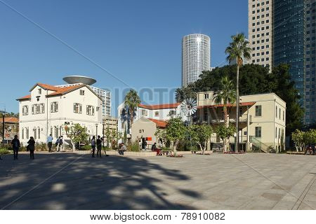 Chic and trendy compound of Sarona in Tel aviv