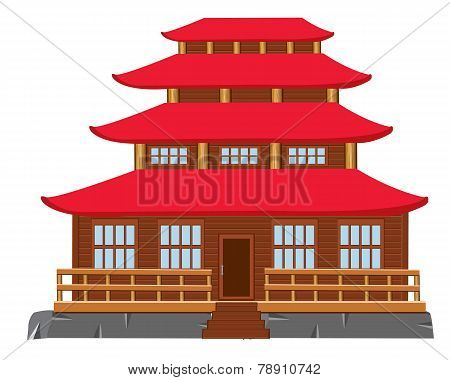 Building of the japanese architecture