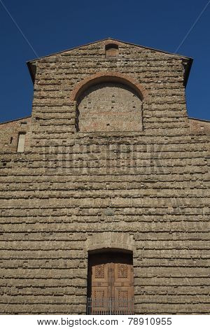 Close Up View Of Famous Sagrestia Vecchia In Florence