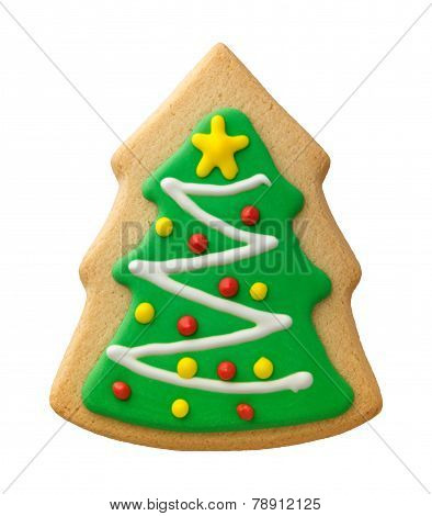Gingerbread Christmas Tree With Decorations