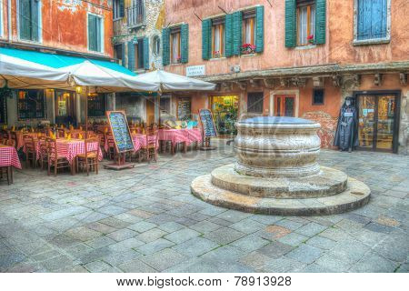 Picturesque Square In Venice, Italy