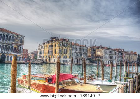 Venice Grand Canal Under A Gray Sky