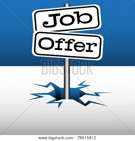 Job offer signpost