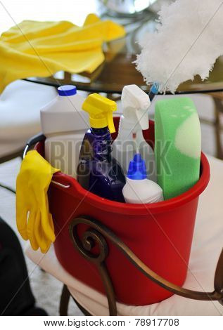 Cleaning supplies for clean house