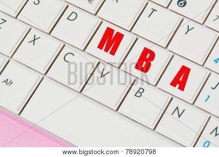 Mba Keys In A Laptop Keyboard