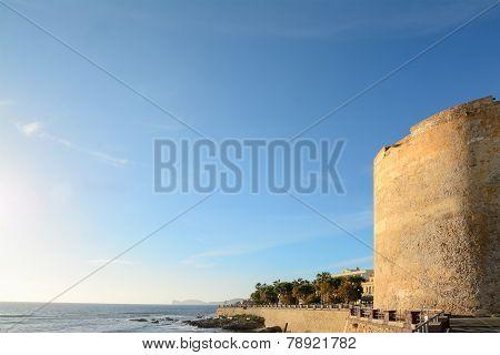 Alghero Bastion Under A Warm Light