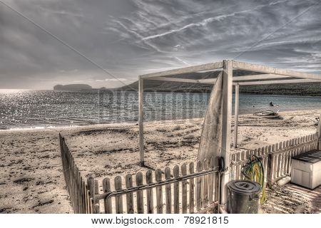 Mugoni Shoreline On A Cloudy Day