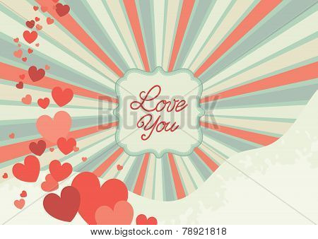Abstract valentine background