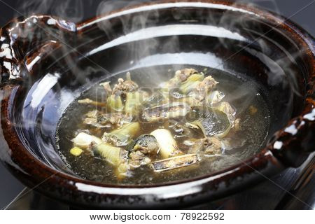 suppon nabe, japanese softshell turtle hot pot stew