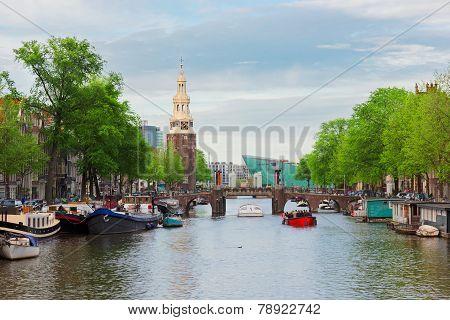 Amstel river, Amstardam, Holland