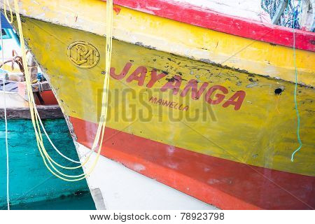 Fishing Boats In Tangalle Port