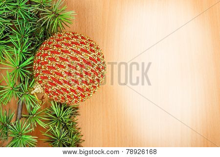 Family Or Business Greeting Card With Decoration For New Year's Holidays
