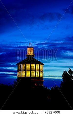 Lightened Old Fire Tower