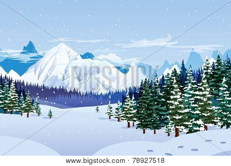 Romantic winter landscape