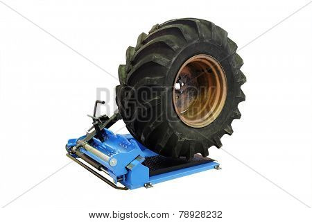 big tire isolated under the white background
