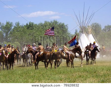 American Indian Warriors Capture The Flag