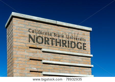 California State University Northridge Entrance Sign