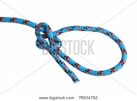 Bowline Knot Isolated On White