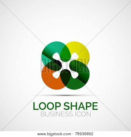 Abstract geometric symmetric business icon, logo