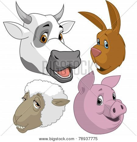 Farm Animal  Heads