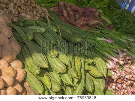Vegetables In The Market.