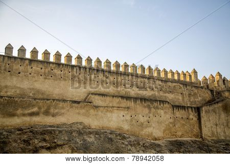 Old City Walls In Fez, Morocco
