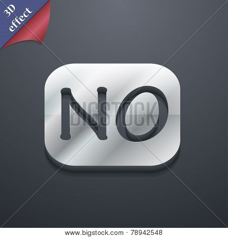 No Norway Translation Icon Symbol. 3D Style. Trendy, Modern Design With Space For Your Text Vector