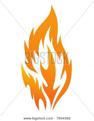 fire icon on a white background,