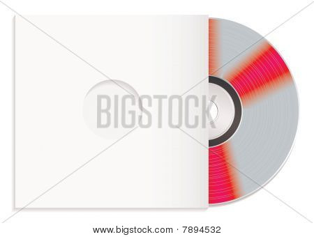Shiny Cd And Paper Case