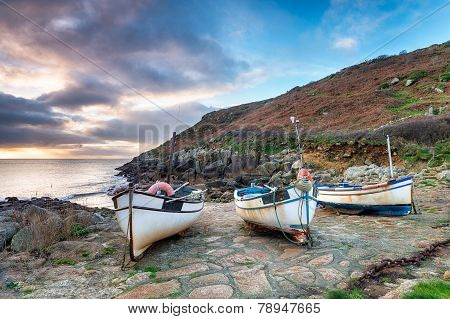 Fishing Boats On A Beach