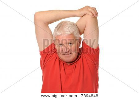 Senior Retired Man Stretching