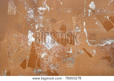 Abstract pattern on brown metal