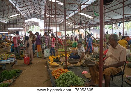 Vegetable vendor in the market