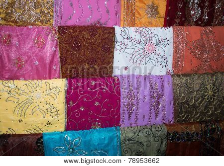 Embroidered Colorful Fabrics