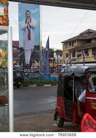 Election Poster And Tuktuk