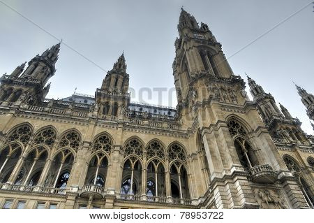 Rathaus (town Hall) Building In Vienna