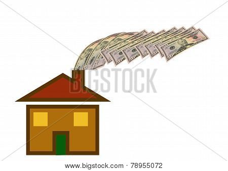 House Losing Money Out Of The Chimney