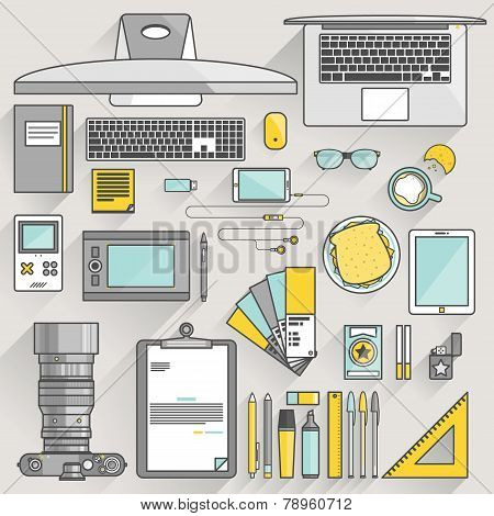 Flat Modern Design Vector Illustration Concept