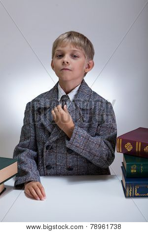 Little Boy Dressed As Adult