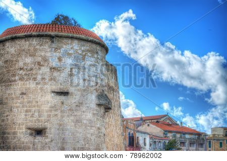 Alghero Bastion On A Cloudy Day